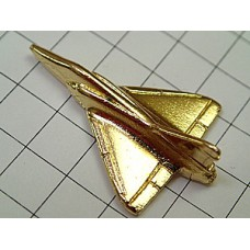 ピンバッジ・金色の戦闘機ミラージュ飛行機