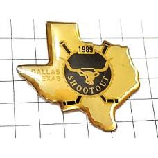 ピンズ・牛の頭テキサス州地図型アメリカ/USA