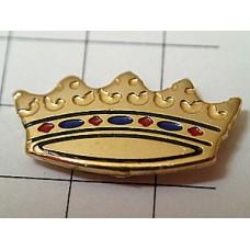 ピンバッジ・金色と宝石の王冠