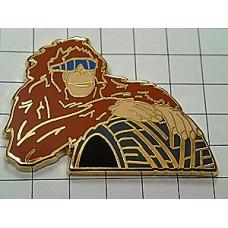 ピンズ・サングラスの猿とタイヤ車