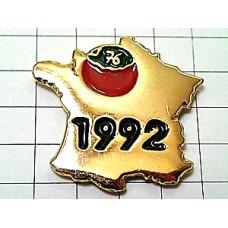 ピンズ・金色フランス地図型