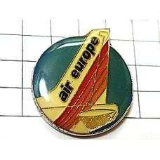 ピンバッジ・エアヨーロッパ航空イギリス飛行機