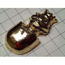 ピンズ・金色の王冠をかぶった蛙