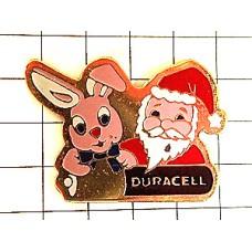 ピンズ・ウサギのぬいぐるみサンタ乾電池デュラセル