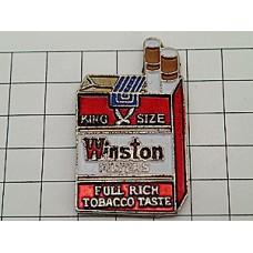 ピンバッジ・煙草ウィンストン箱型