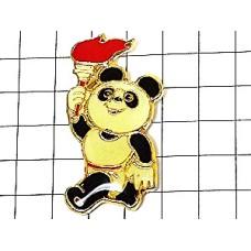 ピンズ・北京アジア競技大会パンダのパンパン聖火マスコット