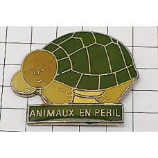 ピンズ・緑のカメ亀かめ動物