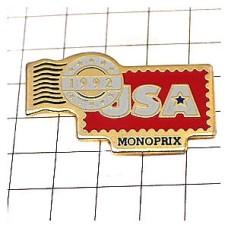 ピンバッジ・USAモノプリ郵便の消印
