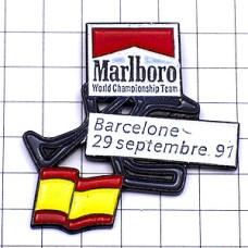 ピンバッジ・バルセロナF1サーキット車スペイン国旗