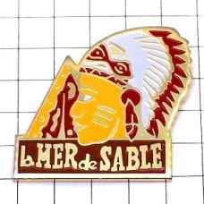 ピンズ・インディアン羽飾り戦士ネイティブアメリカン