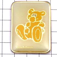 ピンズ・黄色い熊のぬいぐるみコダック写真