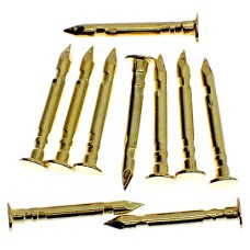 ピンバッジの針◆金色10本で1セット長さ10mm直径2.3mmゴールド色ピンズ用ピンバッチ