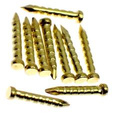 ピンバッジの針◆金色10本で1セット長さ8mm直径1.6mmゴールド色ピンズ用ピンバッチ