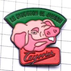 ピンバッジ・ピンク色のブタ豚