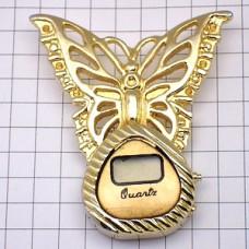 ピンズ・金色の蝶々と時計