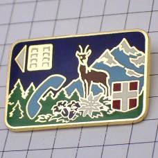 ピンズ・鹿と雪山のテレホンカード電話