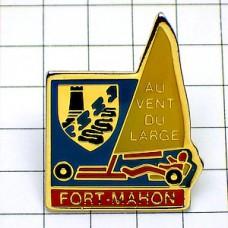 ピンバッジ・ランドセーリング帆車ブローカート紋章