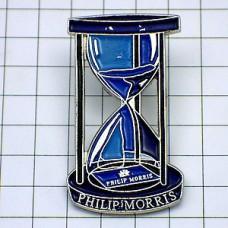 ピンバッジ・煙草フィリップモリス砂時計