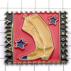 ピンズ・ウエスタンブーツ長靴スター切手型