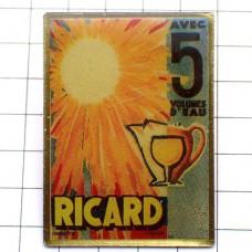 ピンバッジ・リカール太陽レトロ広告パスティス酒