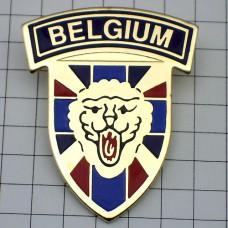 ピンバッジ・ベルギー紋章ライオンの頭