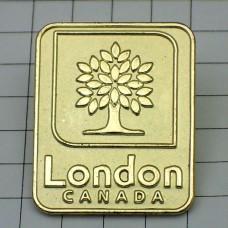 ピンバッジ・ロンドン木オンタリオ州カナダ金色