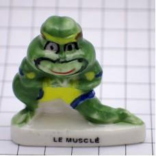 フェブ・筋肉むきむきの緑蛙カエル男