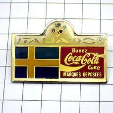 ピンバッジ・スウェーデン国旗イタリア大会サッカーワールドカップ