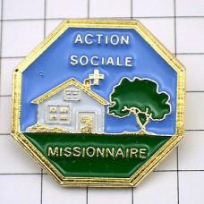 ピンバッジ・十字ミッションの家
