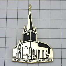 ピンバッジ・金色カトリック教会の建物