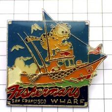 ピンズ・猫ガーフィールド漫画サンフランシスコ漁船/USA