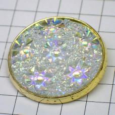 お買得ピンバッジキラキラ光る円形ピンズ