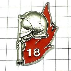 ピンバッジ・消防士と炎18番