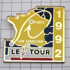 ピンズ・ツールドフランス自転車レース地図