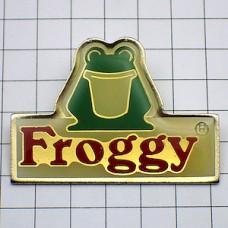 ピンバッジ・フロッギー緑色のカエル蛙