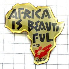 ピンズ・国境なき医師団アフリカは美しい地図型