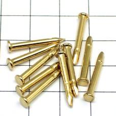 ピンバッジの針◆金色10本で1セット長さ10mm直径2mmゴールド色ピンズ用ピンバッチ