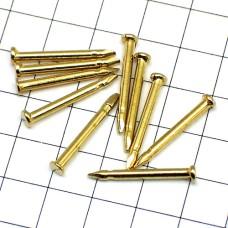 ピンバッジの針◆金色10本で1セット長さ12mm直径2mmゴールド色ピンズ用ピンバッチ
