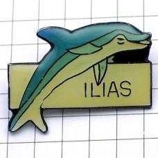 ピンズ・水色のイルカ海豚ドルフィン魚