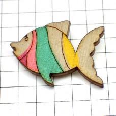 ピンズ・New!木製さかな熱帯魚