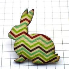 ピンズ・New!木製ウサギ線ギザギサ