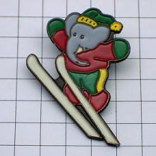 ピンズ・ぞうのババールのスキージャンプ絵本