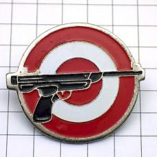 ピンバッジ・黒い銃ピストル的コダック写真