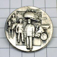 ピンズ・警察の歴史メタル銀色