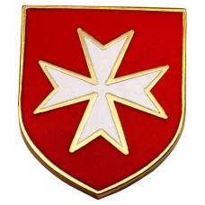 ピンズ・New!赤い盾マルタ騎士団キリスト教カトリック騎士修道会デラックス留め金付