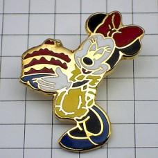 ピンズ・ミニーちゃんエプロン誕生日ケーキお菓子ディズニー