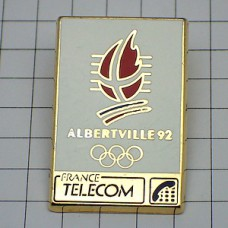 ピンバッジ・アルベールビル五輪フランステレコム電話