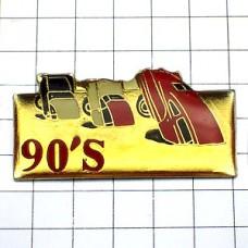 ピンバッジ・土に埋まった3台の車WINSTON-USA-90S