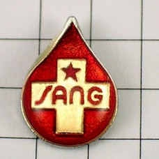 ピンバッジ・献血の一滴と十字