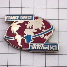 ピンズ・地球とフランスの地図